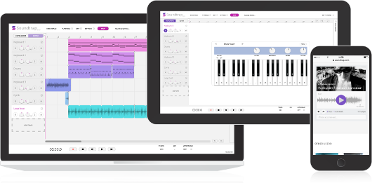 Make music online on Mac, Windows, iPad, Android tablets and phones, Linux and ChromeBooks.